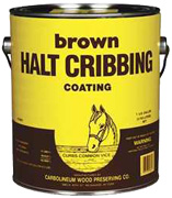 Halt Cribbing Coating Brown 1 Gallon Carbolineum