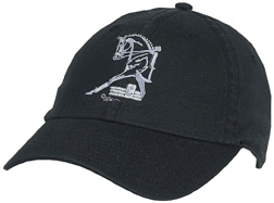 Embroidered Cap Half Horse Trot BLACK #A112HHT