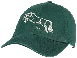 Embroidered Cap Galloping 2 FOREST #A112J