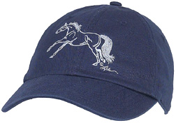 Embroidered Cap Galloping 2 NAVY #A112G2