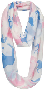 """Lila"" Infinity Scarf Galloping Horses #GG1050BP"
