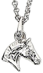 Sterling Silver Necklace HORSE HEAD #JN626
