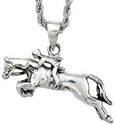 Sterling Silver Necklace JUMPER & RIDER #JN9356