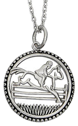 Sterling SIlver Necklace JUMPING HORSE #JN633