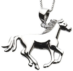 Sterling Silver Necklace RUNNING HORSE #JN631
