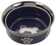 30 Oz Copper Ethical Pets Soho Basket Weave Stainless Dog Dish