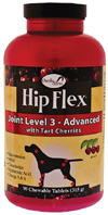 Hip Flex Joint Level 3 Advanced Tart Cherries CHEWABLE TABS 90