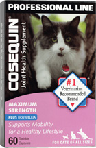 Cosequin Joint Health Supplement Cats Maximum Strength Plus Boswellia 60 Caps