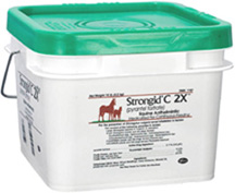 Strongid C 2X Pellet Horse Wormer 10 lbs. Zoetis Animal Health